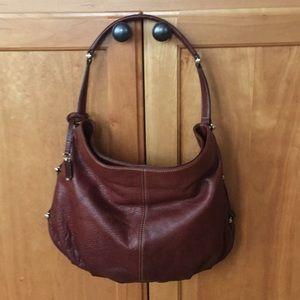 Liz Claiborne Brown leather hobo